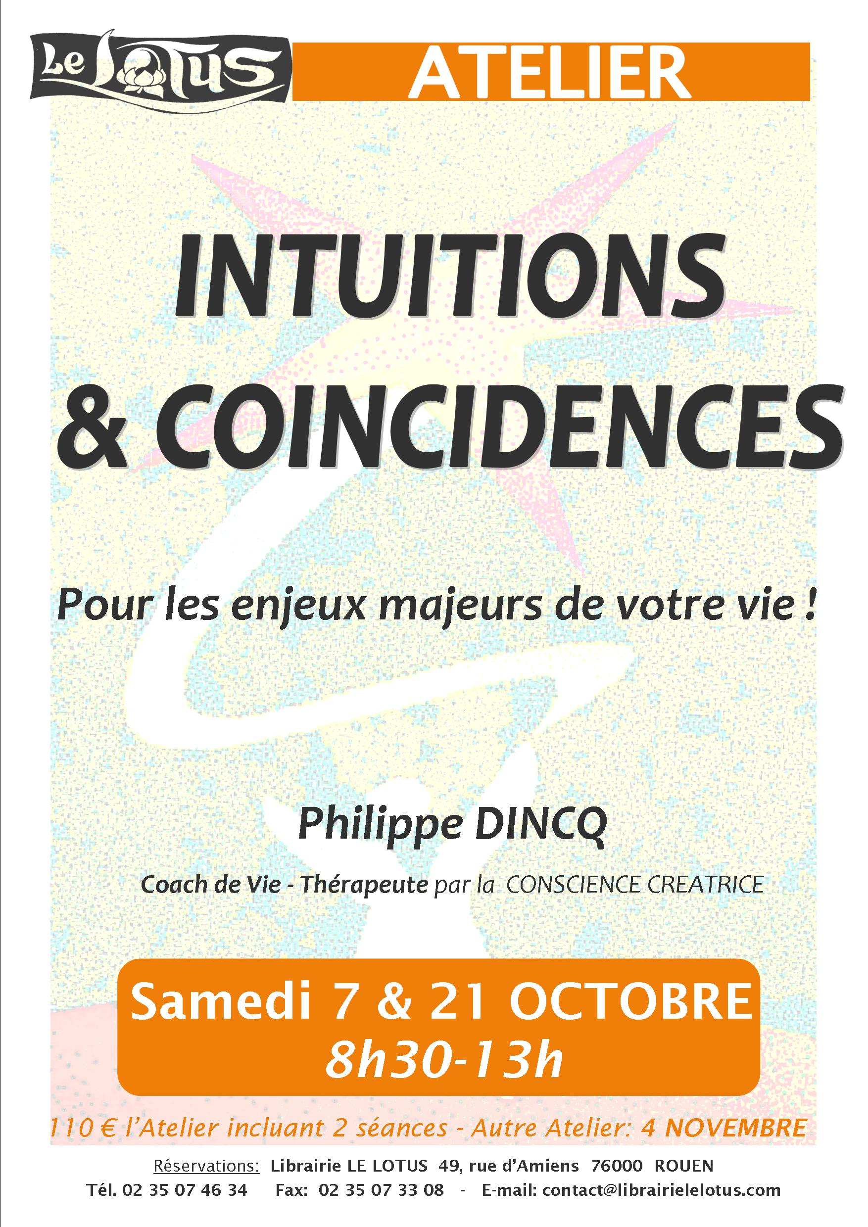 ATELIER - INTUITIONS & COINCIDENCES - OCTOBRE