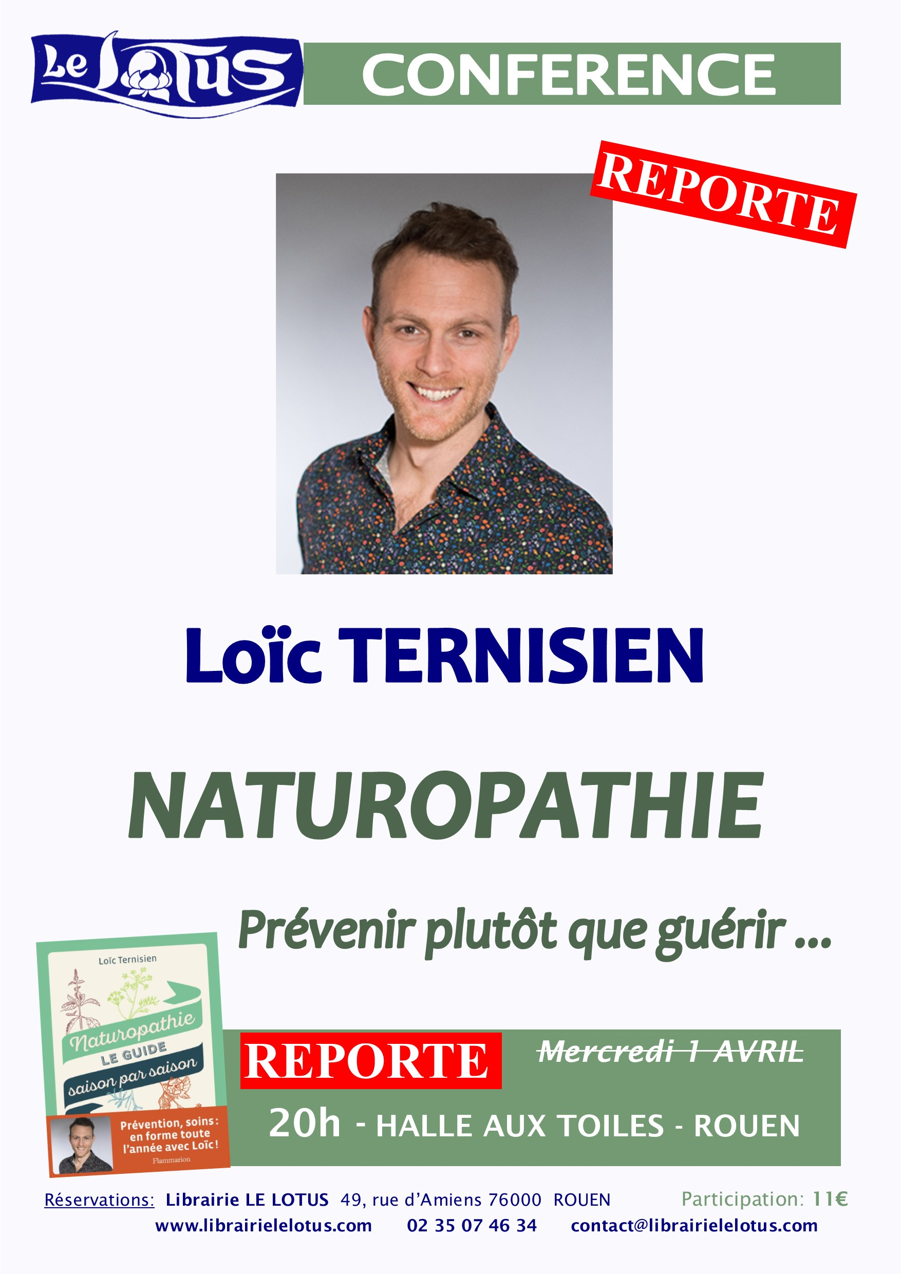 CONFERENCE - LOIC TERNISIEN - NATUROPATHIE